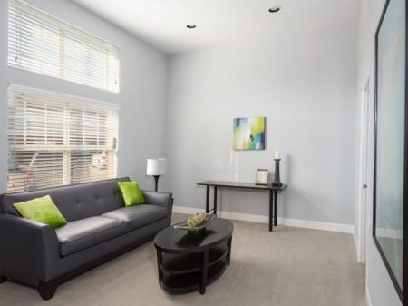 Spacious Living Room | Apartments in Dallas, TX | Flats at Five Mile Creek